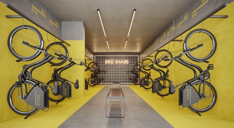 bicicleta compartilhada em condomínio